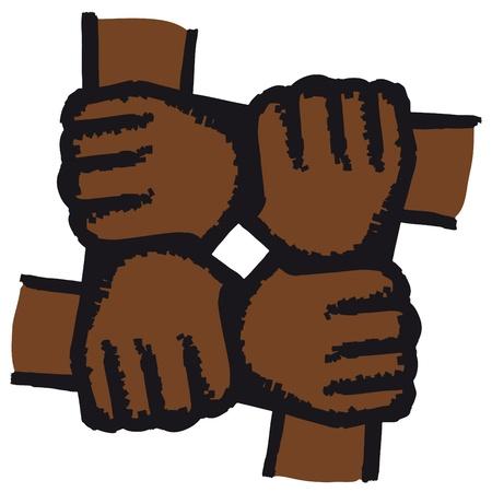 manos unidas: Manos unidas Vectores