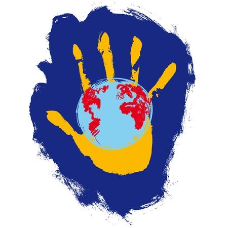 mundo manos: mano y en el mundo