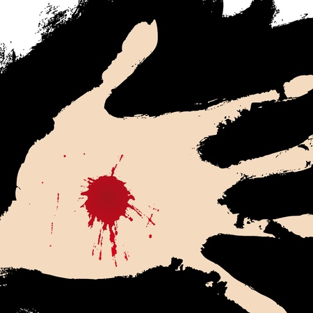 kruzifix: Hand durchbohrt Illustration