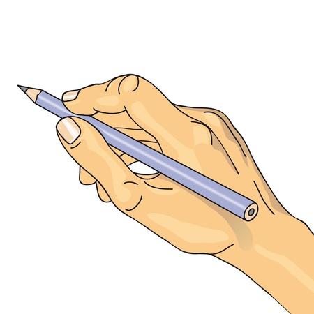 hand write: hand drawing Illustration
