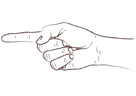 dedo indice: mano que señala Vectores