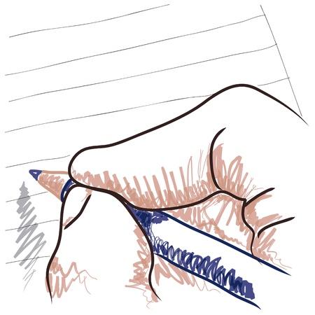 schreiben: Hand-Zeichnung