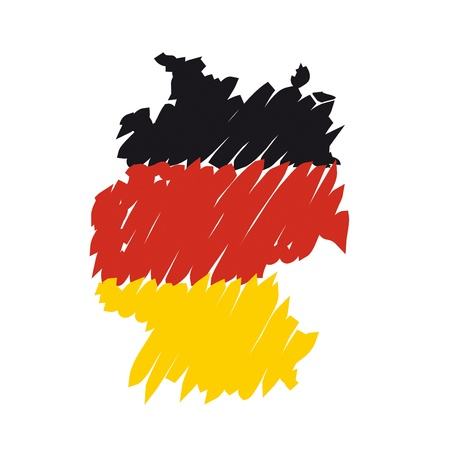 germany map: flag map Germany