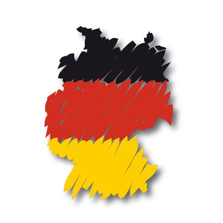 graphing: Mapa de la bandera de Alemania Vectores