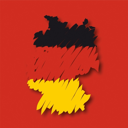 brushwork: flag map Germany