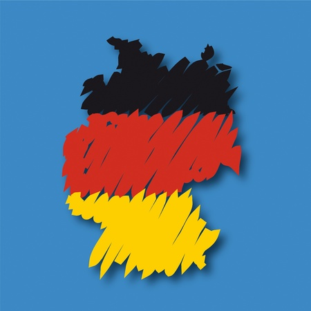 flag map Germany Stock Vector - 10664830
