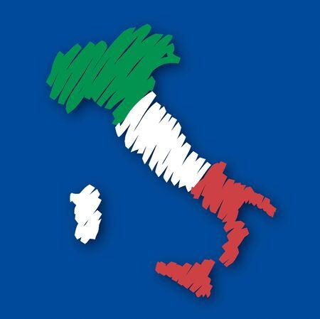 graphing: Mapa de la bandera de Italia