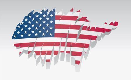 graphing: Mapa de la bandera de Estados Unidos