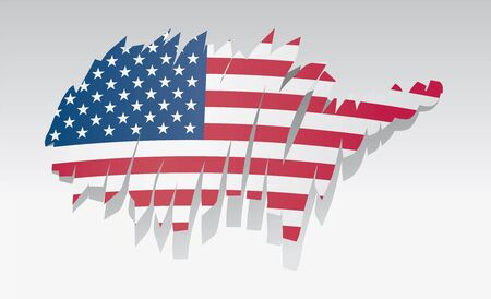 bandiera stati uniti: mappa bandiera degli Stati Uniti