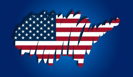 map flag United States Vector