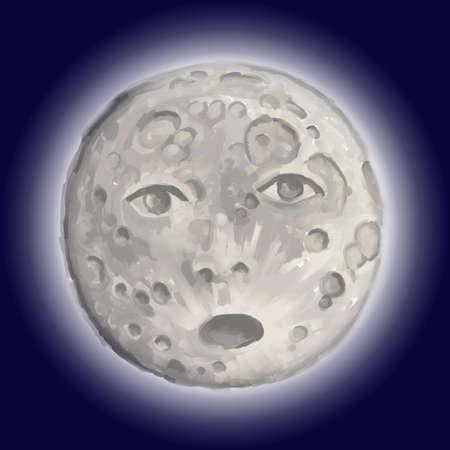 moonrise: the moon
