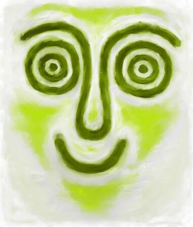 hypnotized: hypnotic face Stock Photo