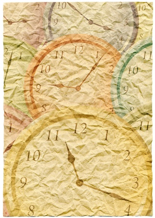 papery: wallpaper with clock