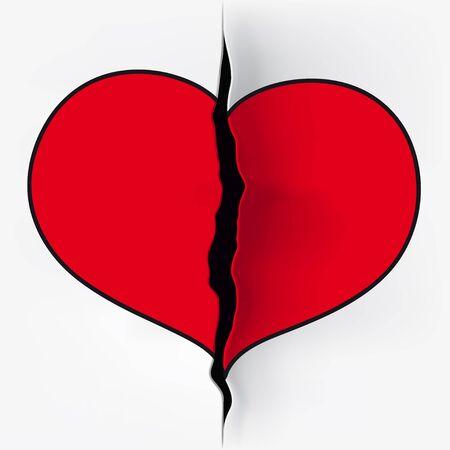 divided: heart cut