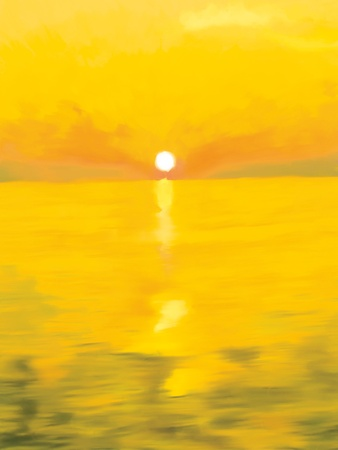 sunset painting: painted  sunset
