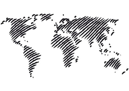 africa outline: world map