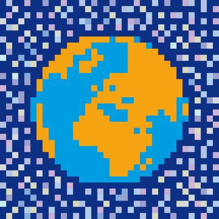 pixelated world Vector