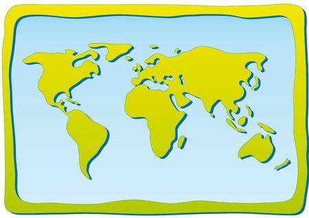 hemisphere: world map