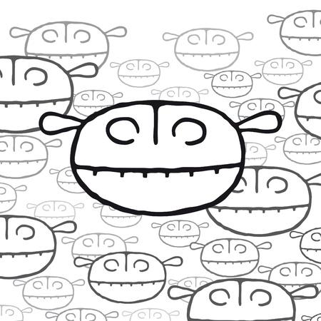 Little monsters Stock Vector - 10691788