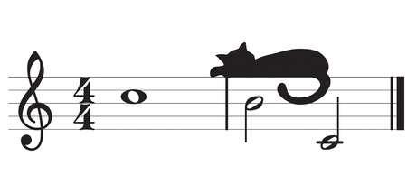 cats and music Vector