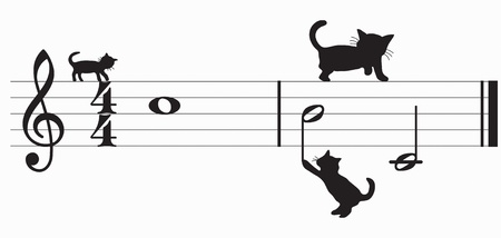 cats and music Stock Vector - 10691690
