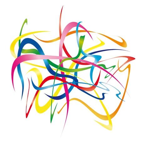 moving ribbons Banco de Imagens - 10691666