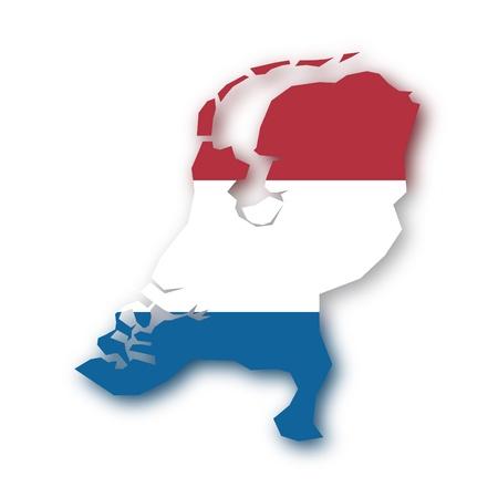vlag kaart Nederland