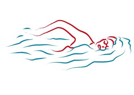 swim cap: swim
