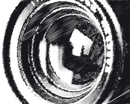 50mm: tele background Illustration