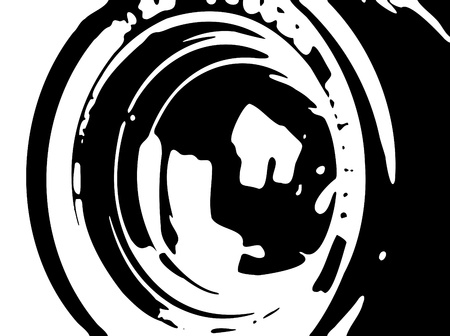 dslr camera: tele background Illustration