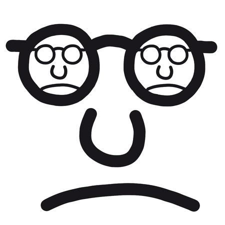 unhappy face Stock Vector - 10691718