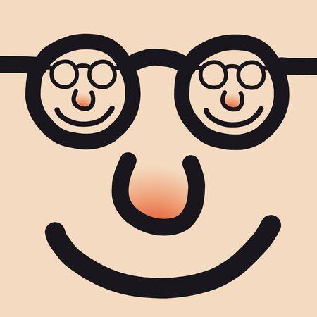 approbation: happy face Illustration