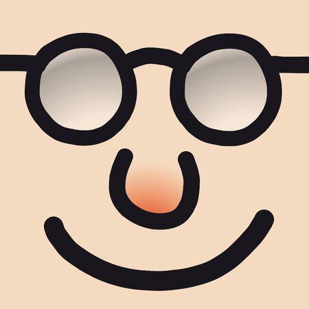 assent: happy face Illustration
