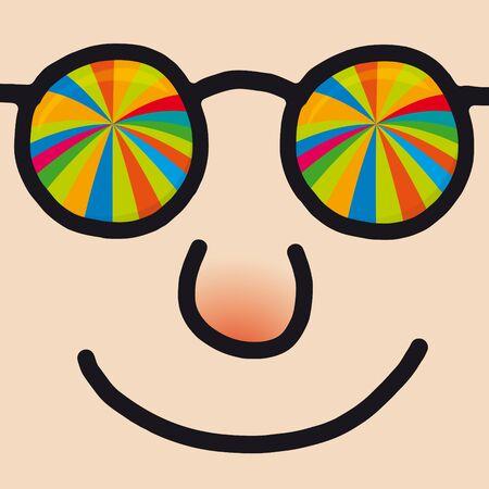 approbation: faccia felice Vettoriali