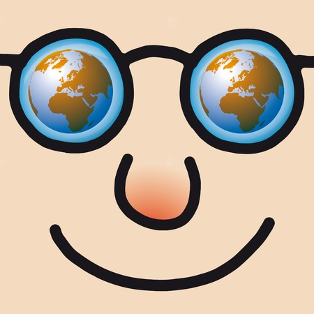happy face Stock Vector - 10691852