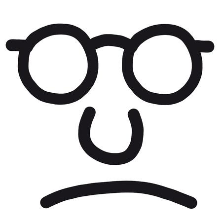 censure: unhappy face