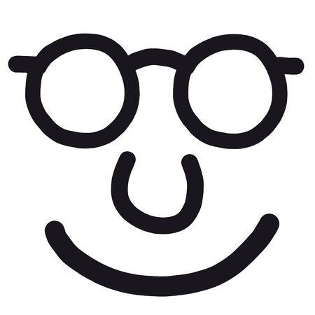 funny mask: happy face Illustration