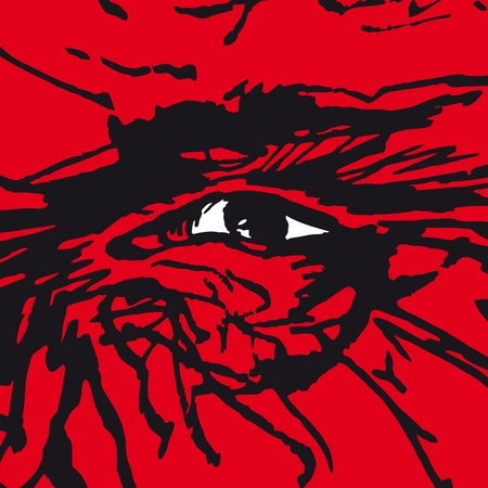 frighten: eye Illustration