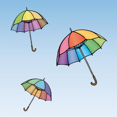 Colored umbrellas Stock Vector - 10691766