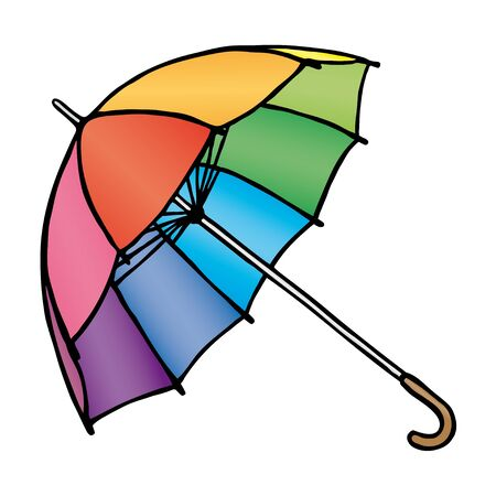 rainbow umbrella: Colored umbrellas