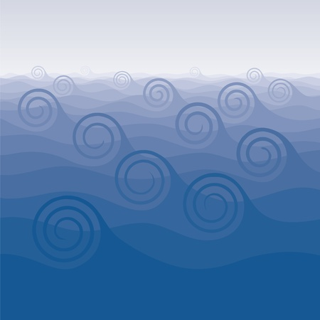 curvilinear: background with waves