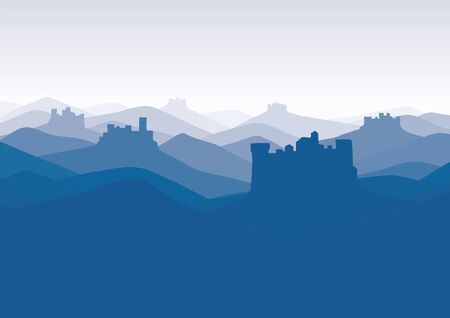 background with castles Vector