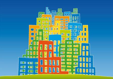 drilled: new city Illustration