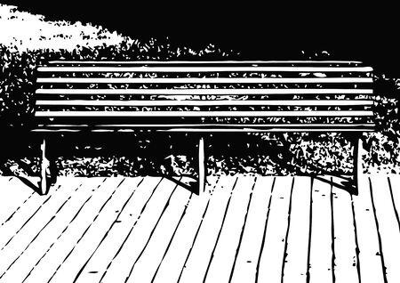 lawn furniture: bench Illustration