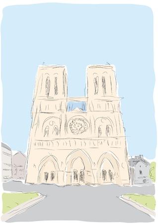 Notre Dame Vector