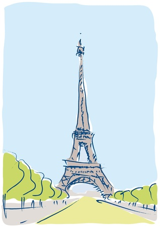 Eiffel Tower Stock Vector - 10710480