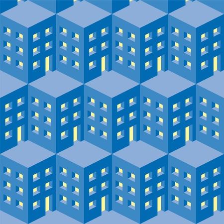 pattern city Stock Vector - 10710383