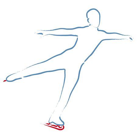 ice skating Stock Vector - 10710429