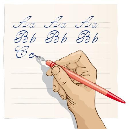 hand write: beautiful writing