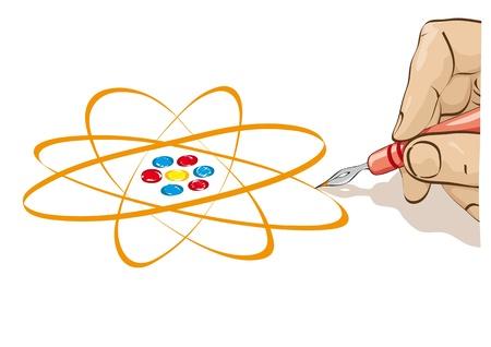 draw the atom Stock Vector - 10710391